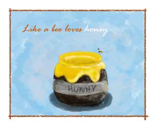 Like a bee loves honey by aznweirdo