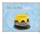 Like a bee loves honey