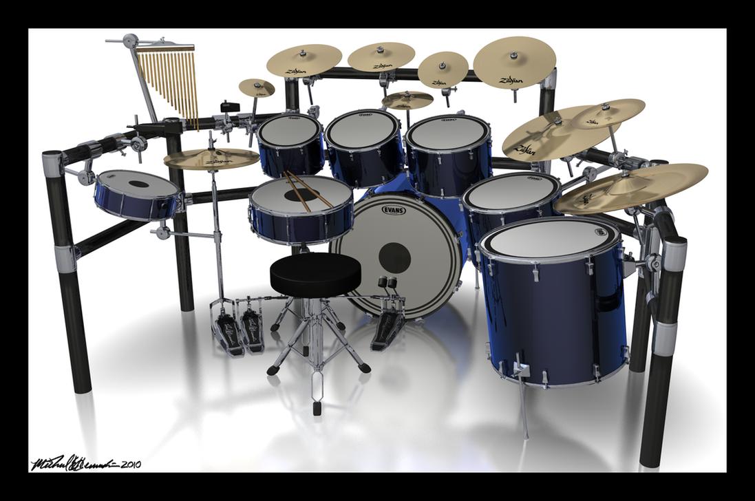 Drum Set Wallpaper 3d