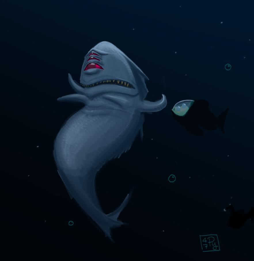 Aboleth in the deep sea by p47y