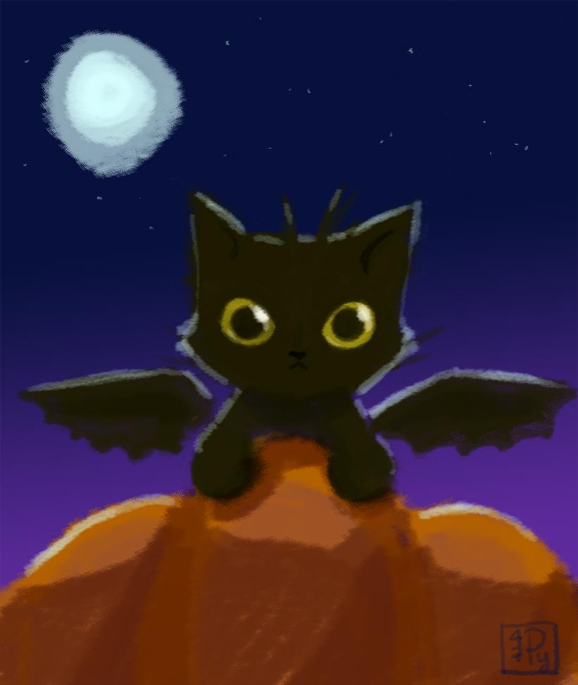Halloween Tressym by p47y