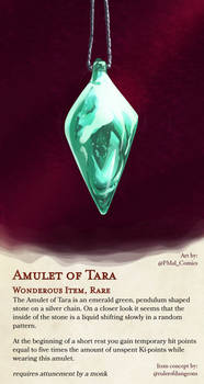 The Amulet of Tara DND item Collab