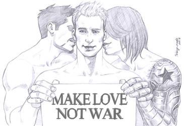 MAKE LOVE, NOT WAR by Taking-meds