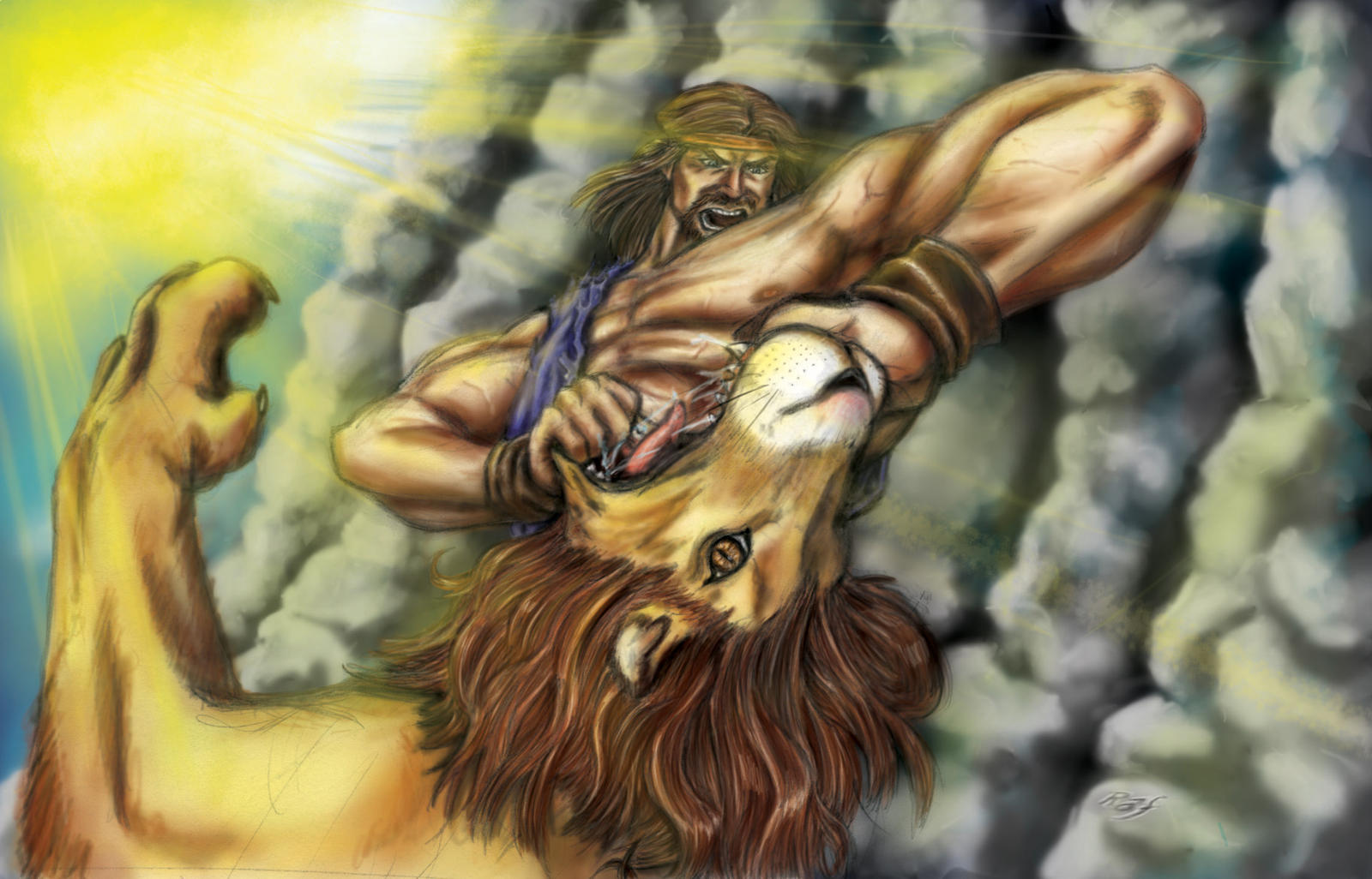Samson kills lion by RafDomingos - 280.8KB