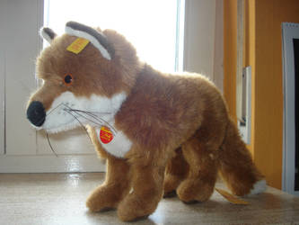 Standing Steiff young fox Snorry Plush by DreamyArcticWolf