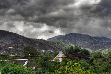 Storm over the hills