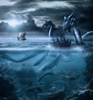 Monsters Of The Deep by BenjaminHaley