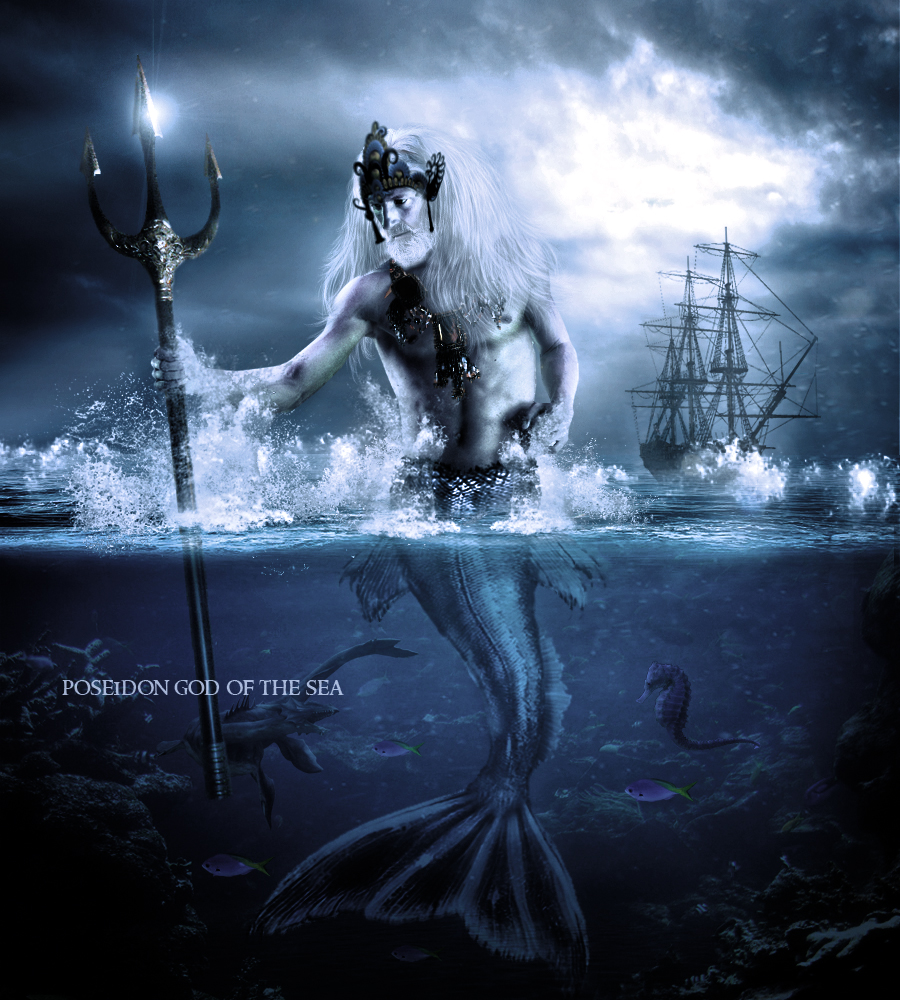 Poseidon God Of The Sea By Haleydesigns On Deviantart