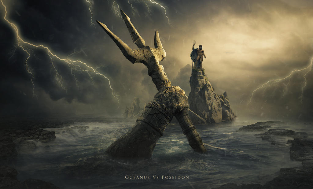 Oceanus Vs Poseidon by BenjaminHaley