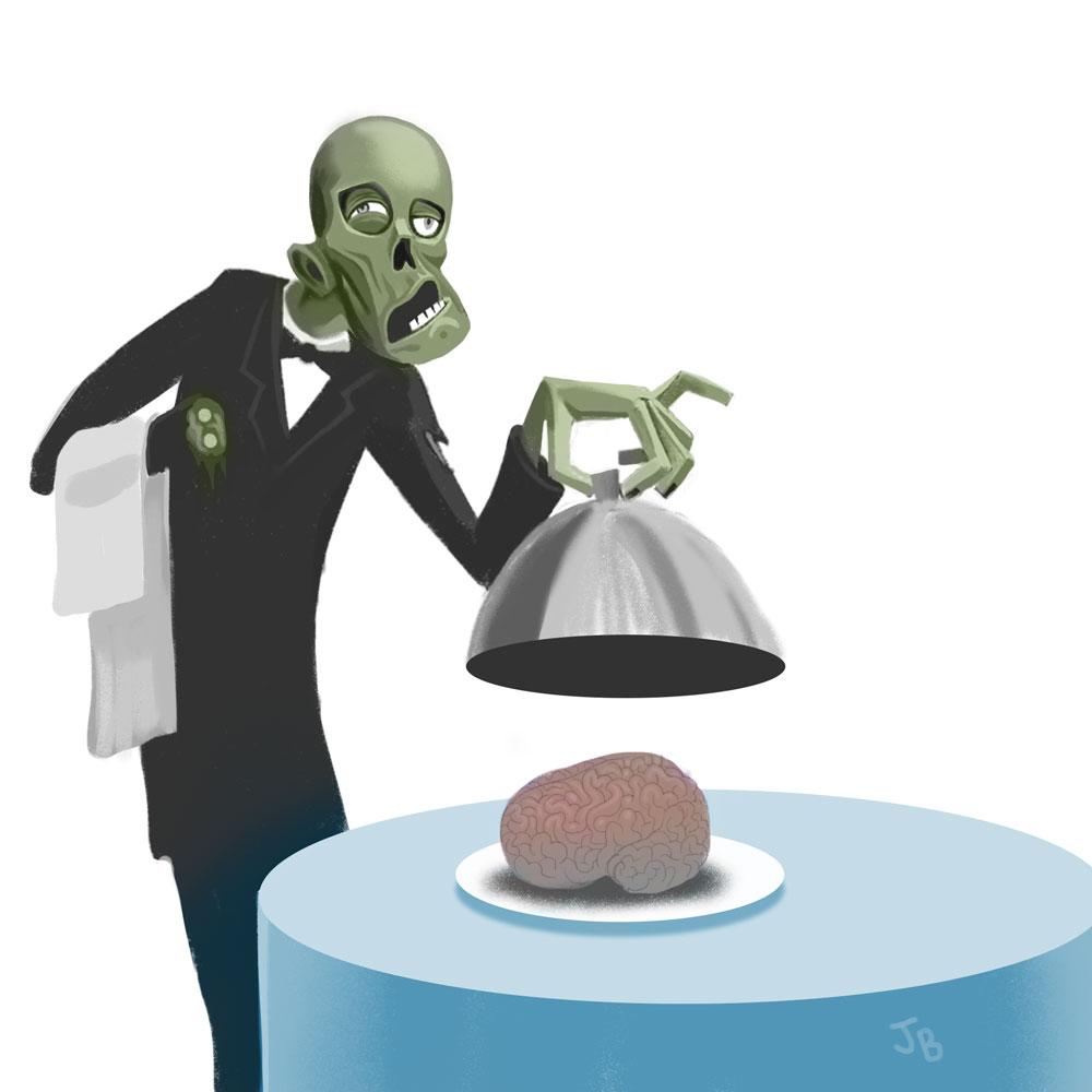Zombie Waiter by jasonbarton