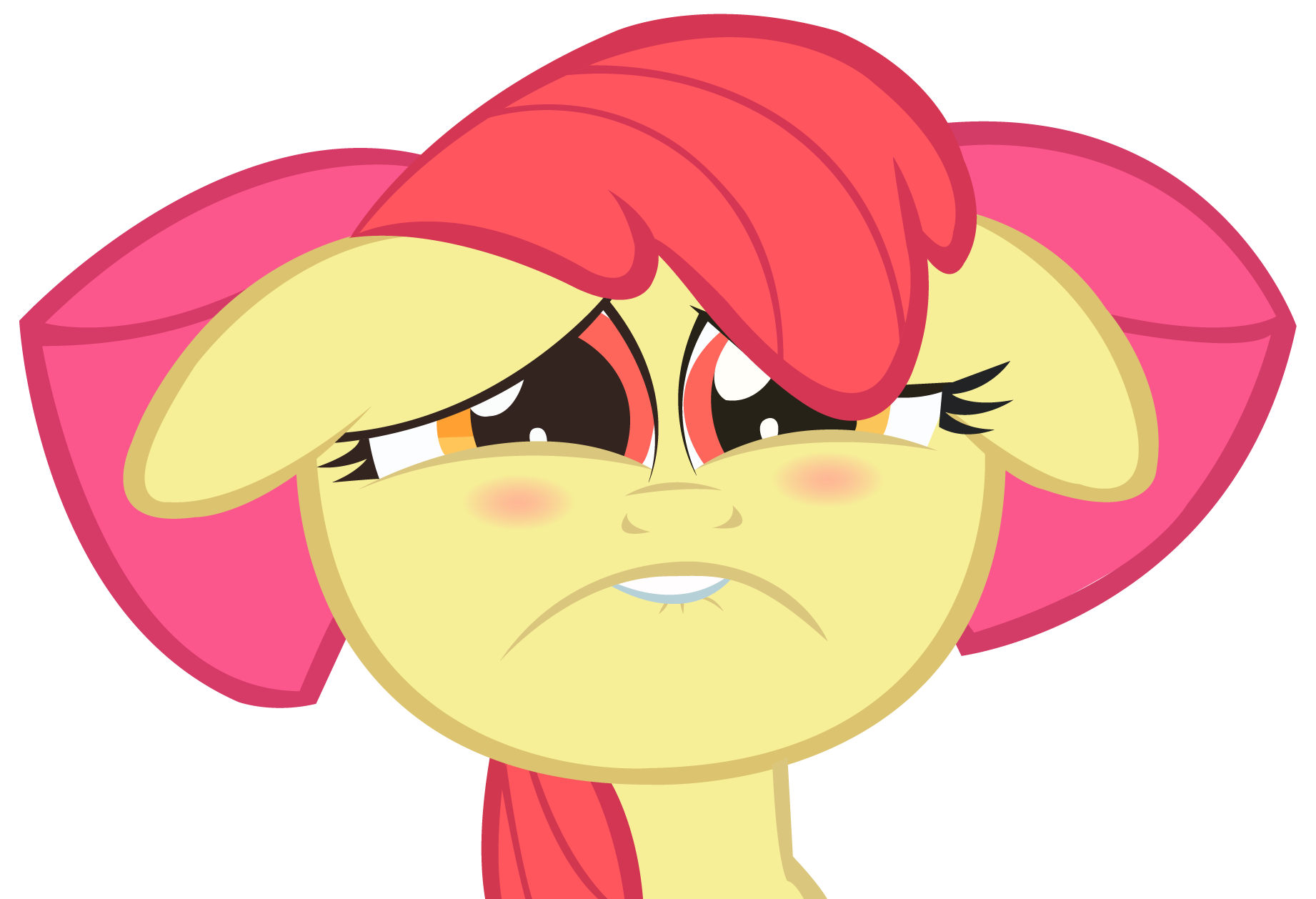 Applebloom sadface vector by wintrparkgrl on DeviantArt: wintrparkgrl.deviantart.com/art/Applebloom-sadface-vector-270815640