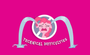 Pinkie Pie Technical Difficulties base by Hexedecimal