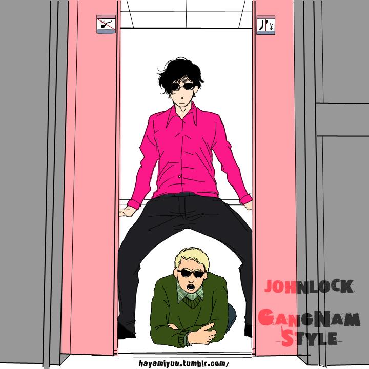 GANGNAM STYLE-Sherlock X John by hayamiyuu