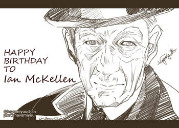 Sir Ian McKellen by hayamiyuu