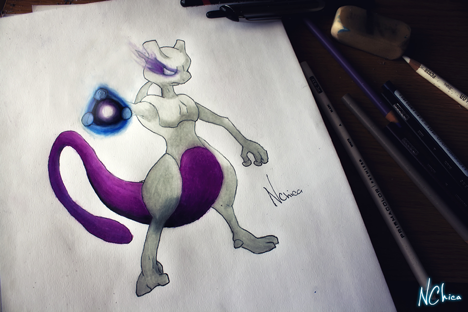 Mewtwo by NChicaGFX