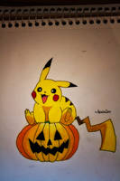 Pikachu's Halloween by NChicaGFX