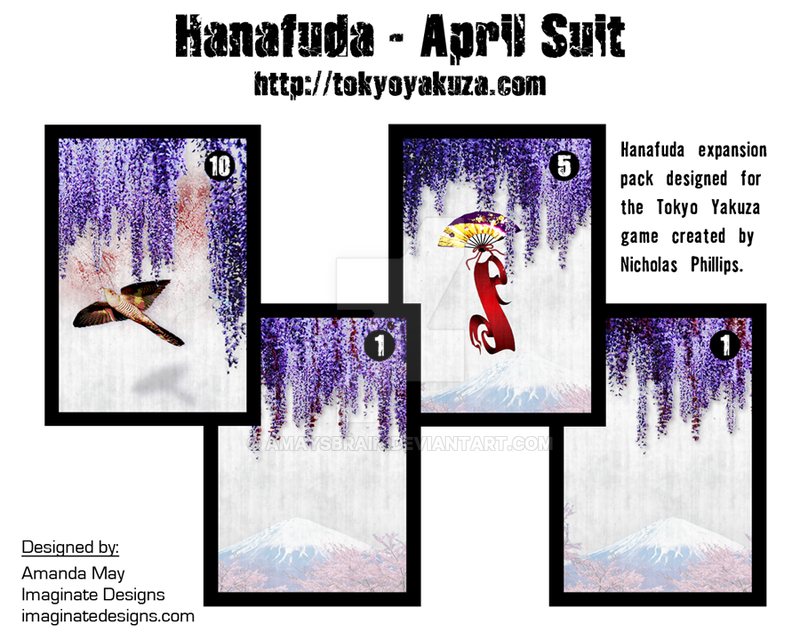 Hanafuda - April Suit by AMaysBrain