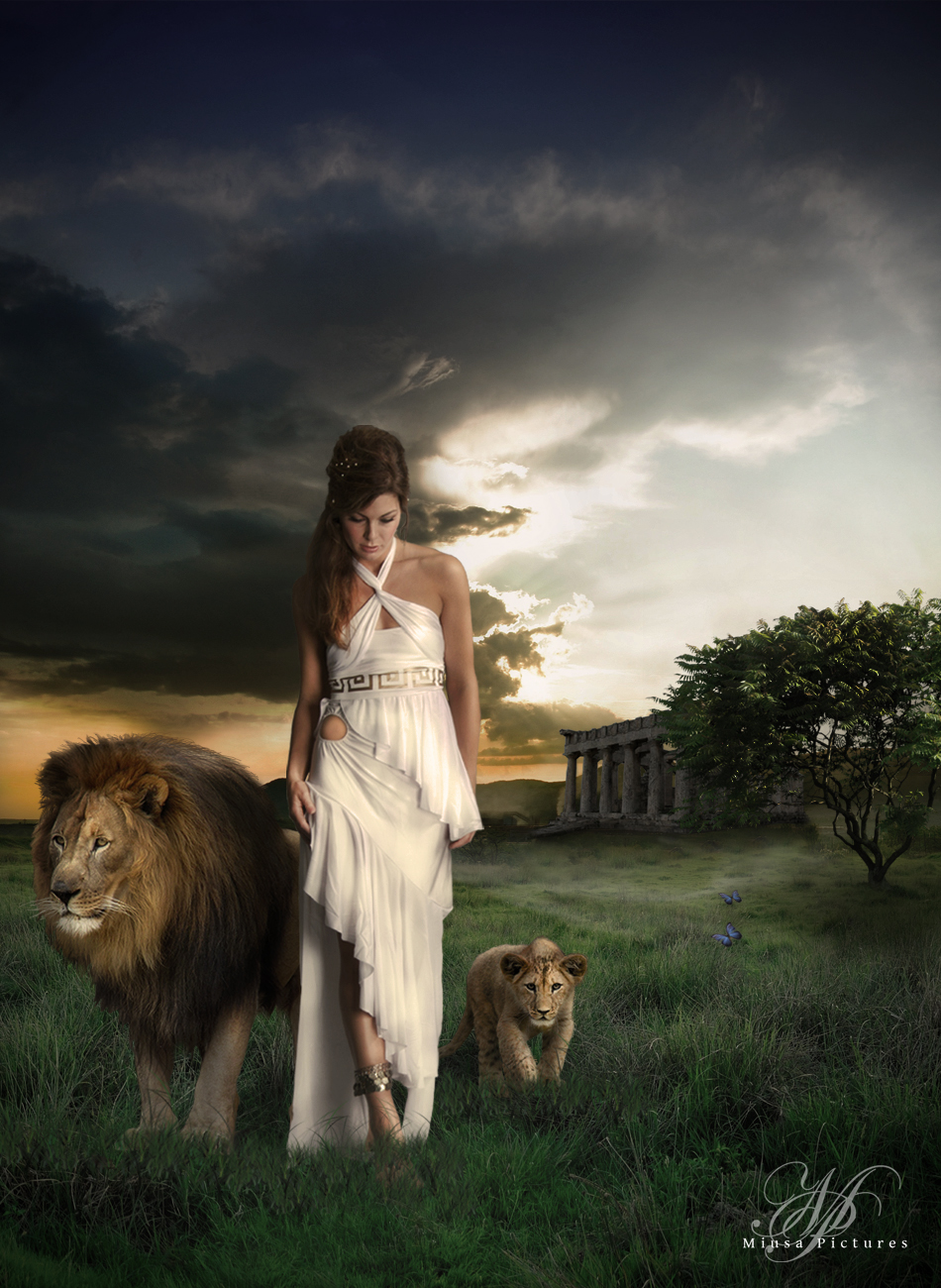 Walking with Lions by MiusaPictures