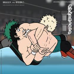 My Hero Pro-Wrestling: Deku vs. Bakugo by DetectiveMask