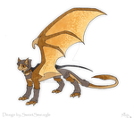 Adoptable- hooded dragon (closed)