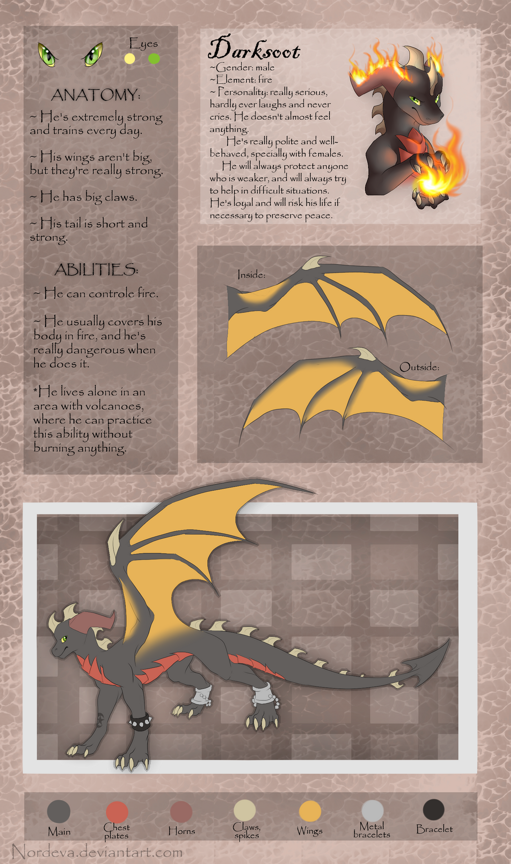 Darksoot - ref sheet by Nordeva