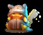 Totoro-dressed Pikachu