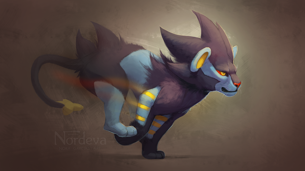 Luxray Wallpaper Speedpaint By Nordeva