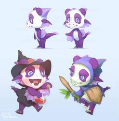 Dragon-Panda Mascot