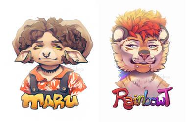Maru and RainbowT (+speedpaint)