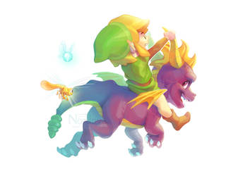 Link and Spyro (+Speedpaint) by Nordeva