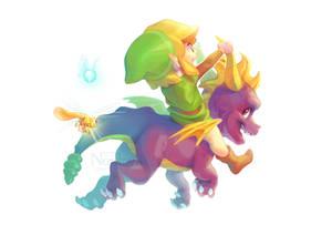 Link and Spyro (+Speedpaint)