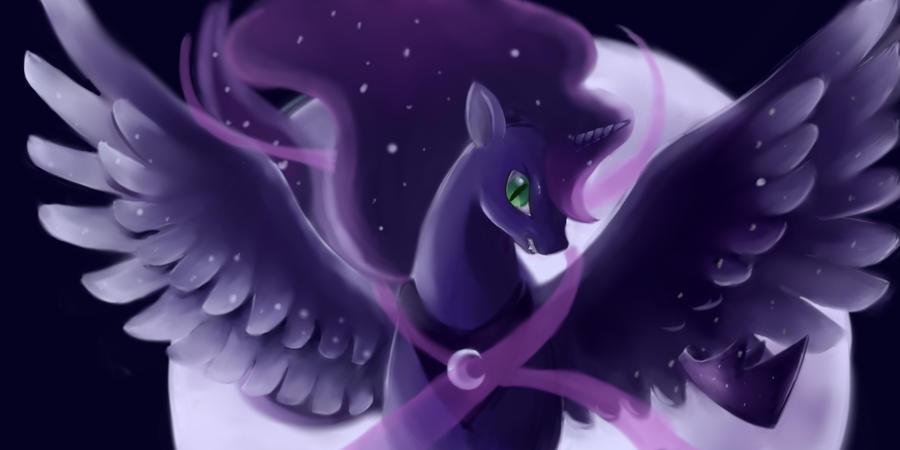 Luna transforming into Nightmare Moon by FoxTailPegasus
