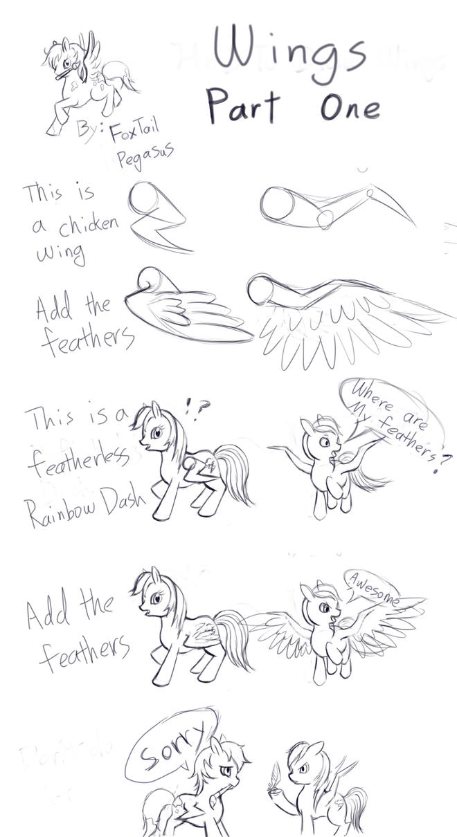 mlp how to draw wings part 1 by foxtailpegasus on deviantart
