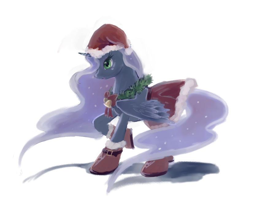 Luna's Christmas costume by FoxTailPegasus