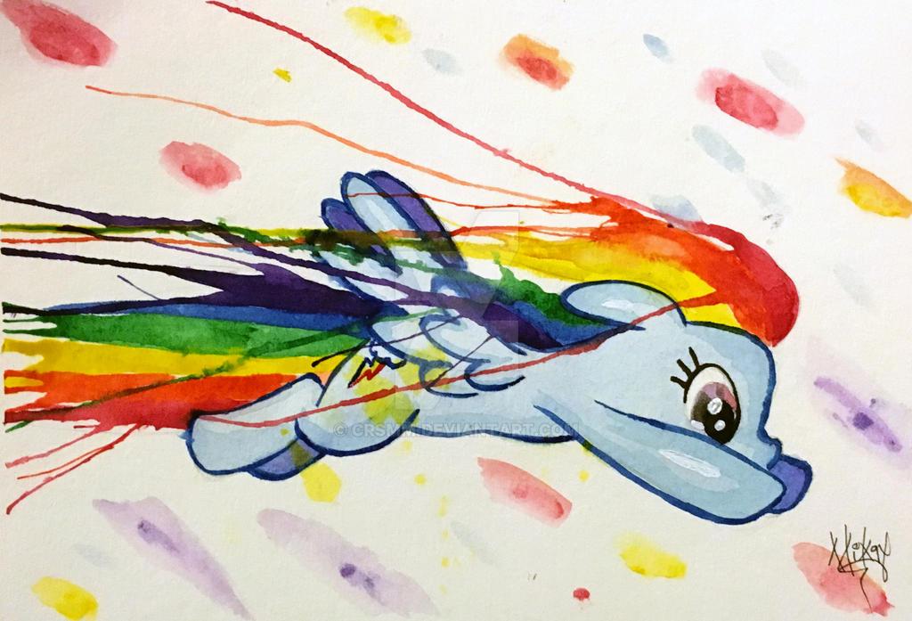 Rainbow Dashing by CRSMM