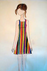 multicoloured striped dress by fourthstripe
