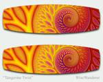 Tangerine Twist Kiteboard by WiseWanderer