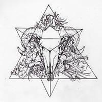 Tetrahedron (Personal Tattoo Design)