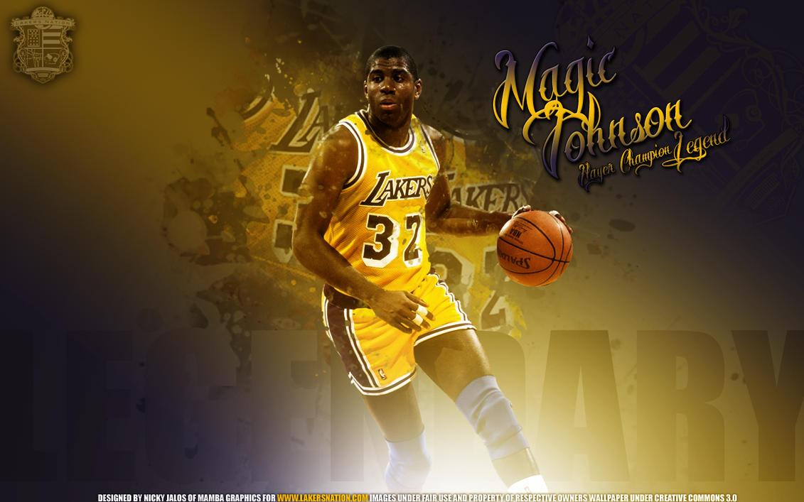 Kobe Bryant and Magic Johnson by oddkidd on DeviantArt