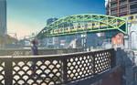 The view from shoheibashi bridge