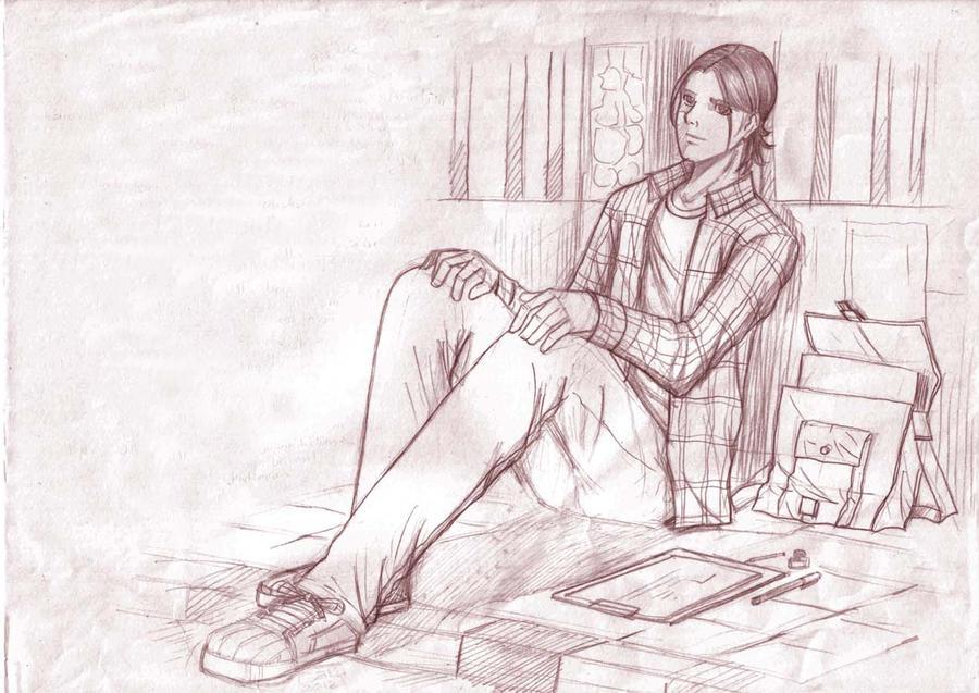 sketch by satriaberkuas