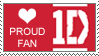 One Direction proud fan stamp