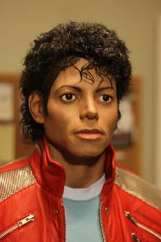 Michael Jackson Beat It blurred closeup
