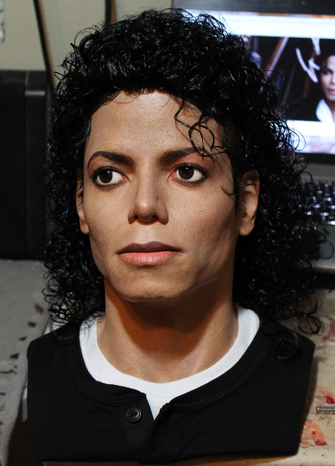 Michael Jackson Bad lifesize bust 1/1 scale (1/25) by godaiking