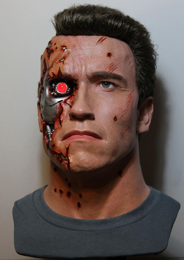 NEW T2 Terminator BD lifesize bust! pic1 by godaiking