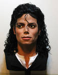 Michael Jackson lifesize bust Bad era 2