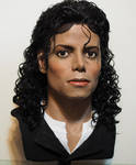 Lifesize Michael Jackson bust Bad/Moonwalker era