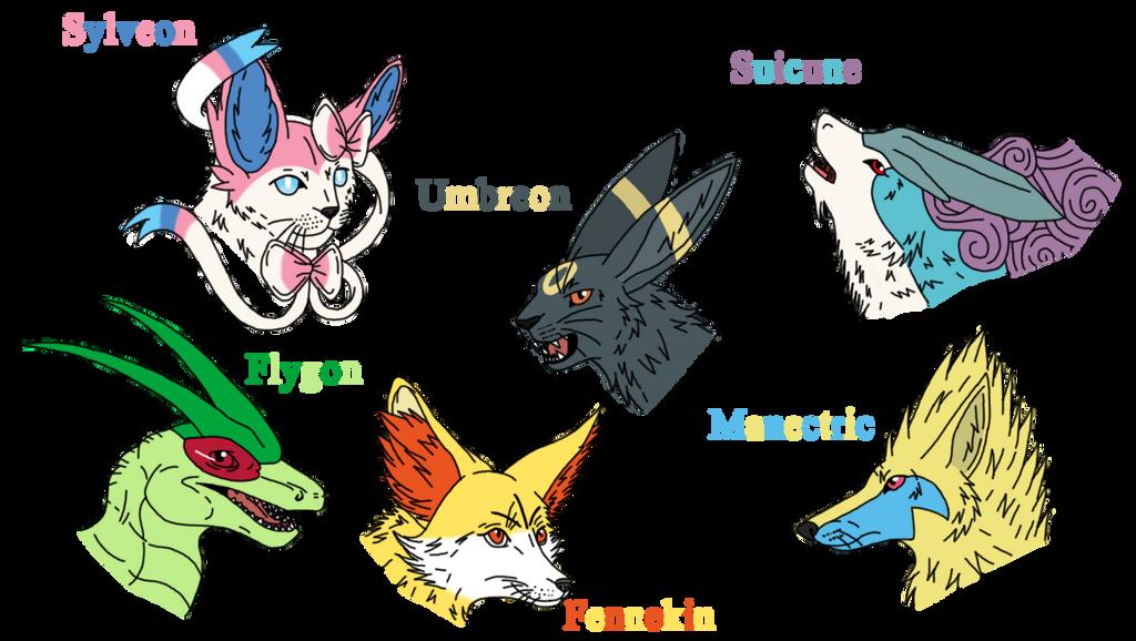 My XY Pokemon Team by draizor007
