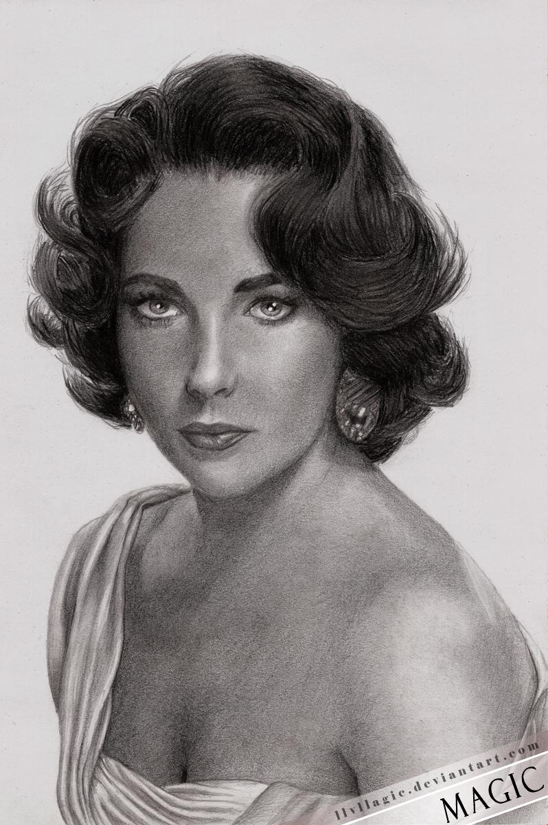 Elizabeth Taylor by llvllagic