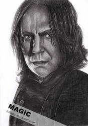 Professor Snape by llvllagic